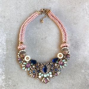 Blush and Blue Statement Necklace